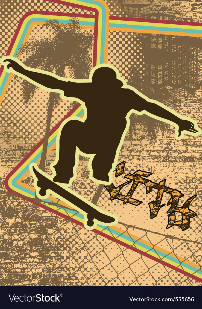 Vintage urban grunge skate vector | Price: 1 Credit (USD $1)