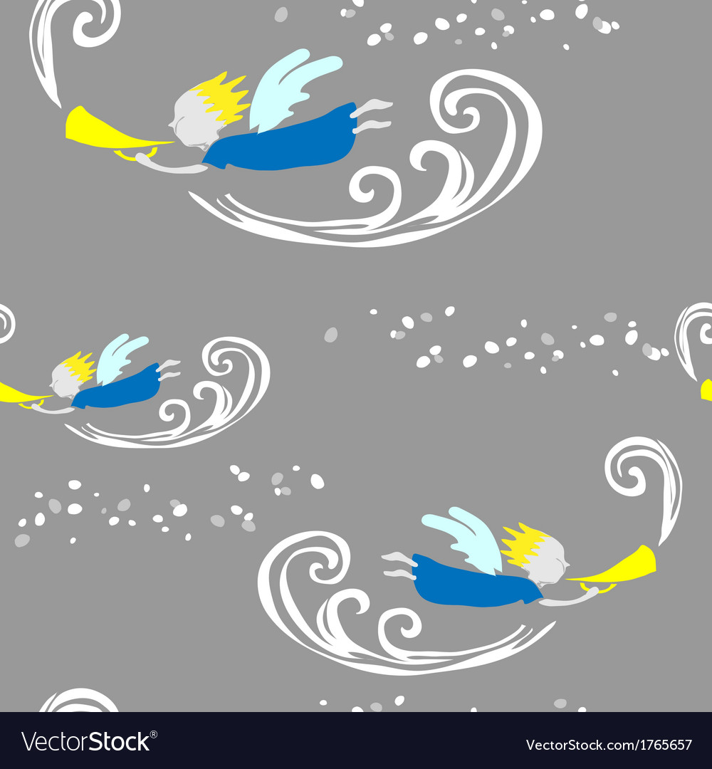 Angel with horn vector | Price: 1 Credit (USD $1)