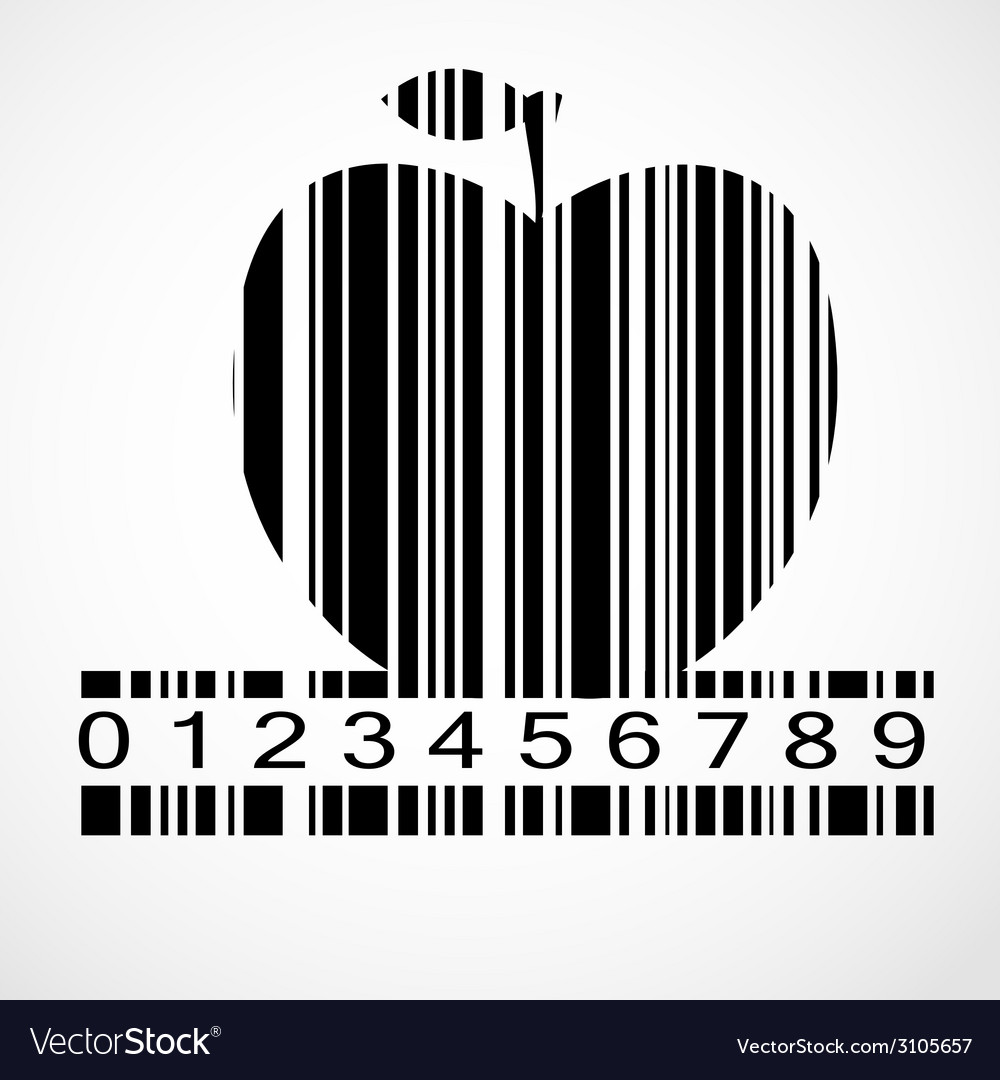 Barcode apple image vector | Price: 1 Credit (USD $1)