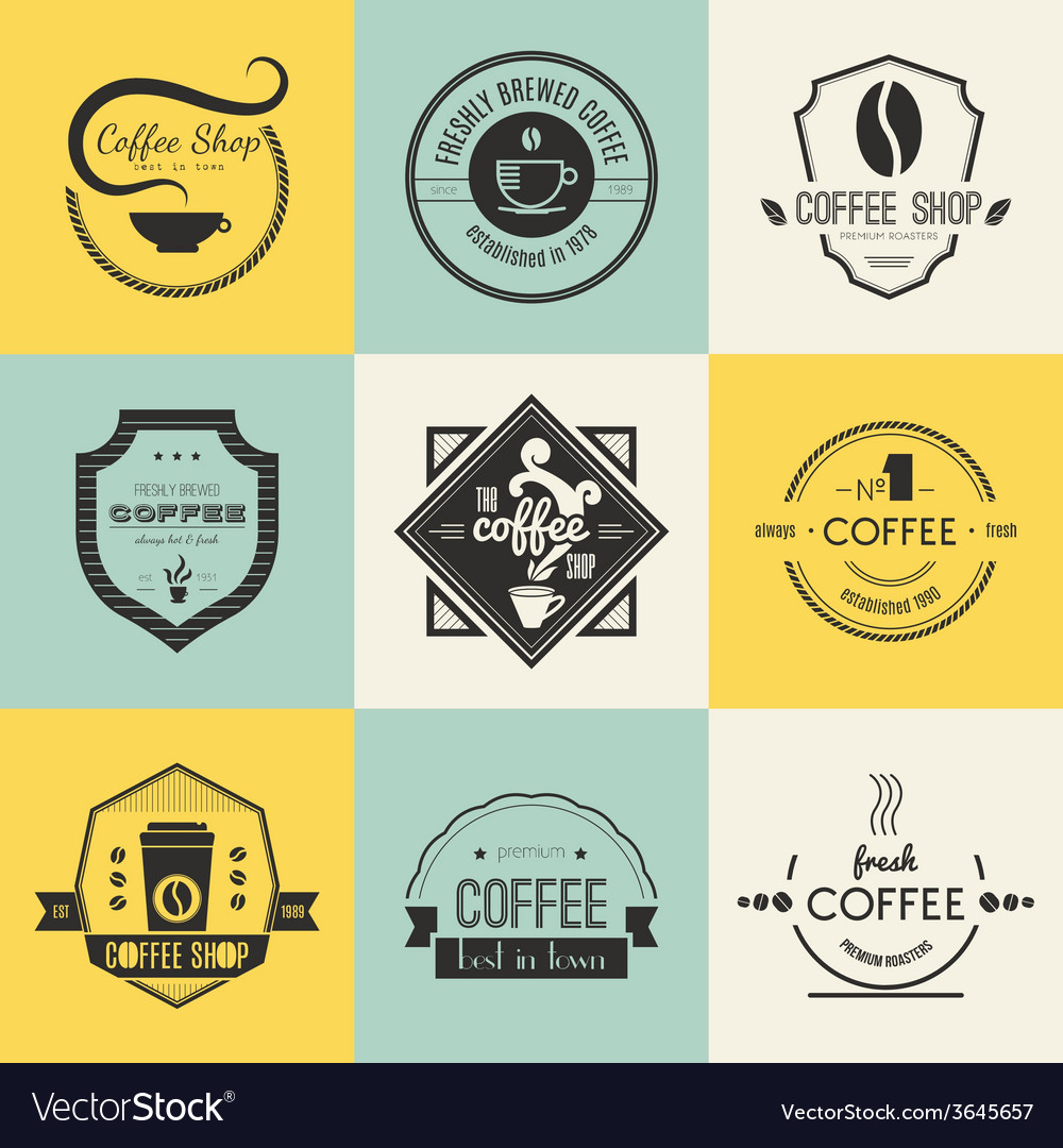 Coffee shop logo collection vector | Price: 1 Credit (USD $1)
