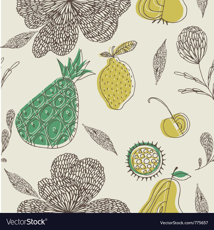 Fruit drawing wallpaper vector