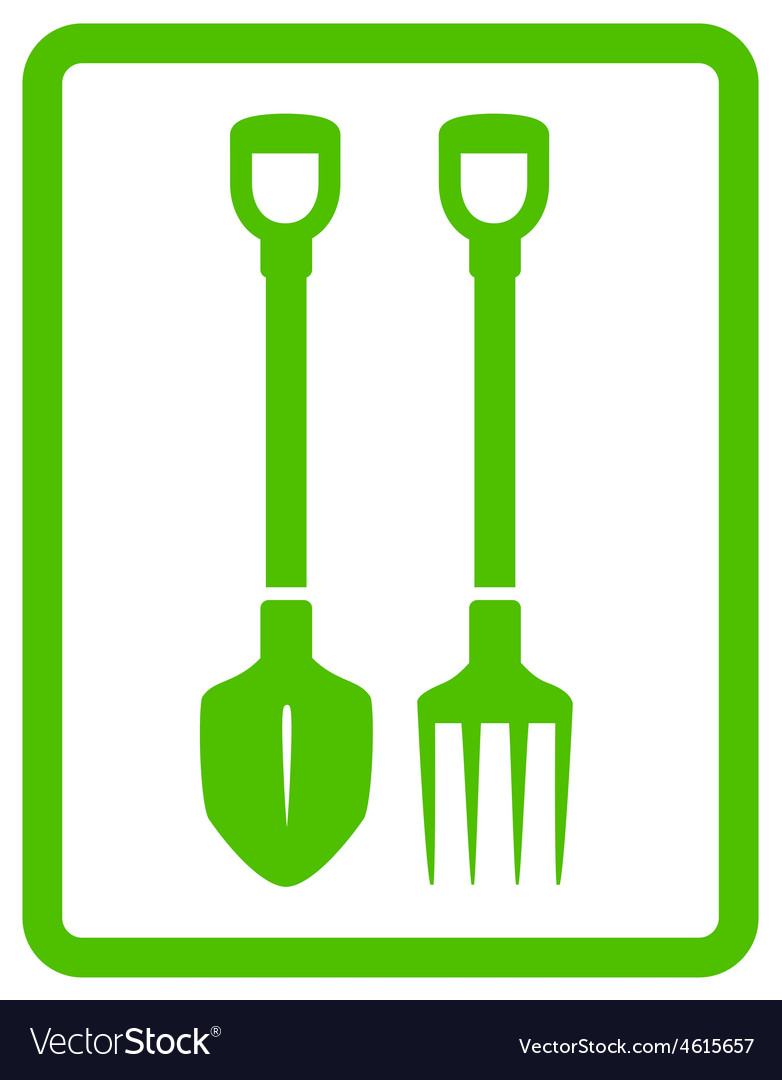 Garden landscaping tools icon vector | Price: 1 Credit (USD $1)
