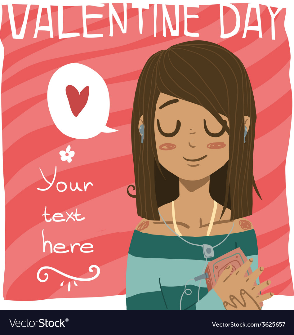 Happy valentine day greeting card vector | Price: 1 Credit (USD $1)