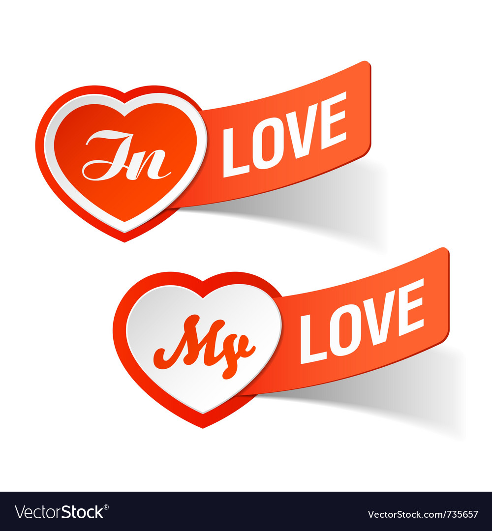 In love my love labels vector | Price: 1 Credit (USD $1)