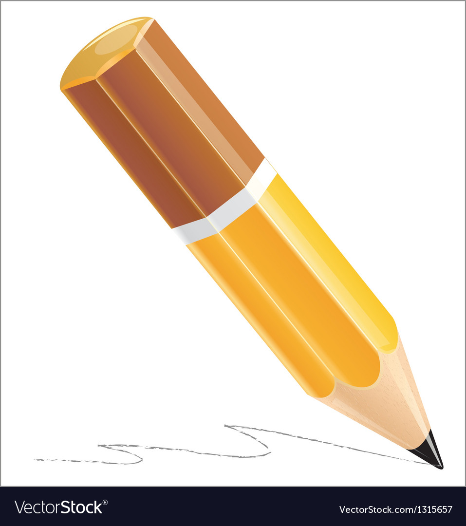 Pencil isolated on white background vector | Price: 3 Credit (USD $3)