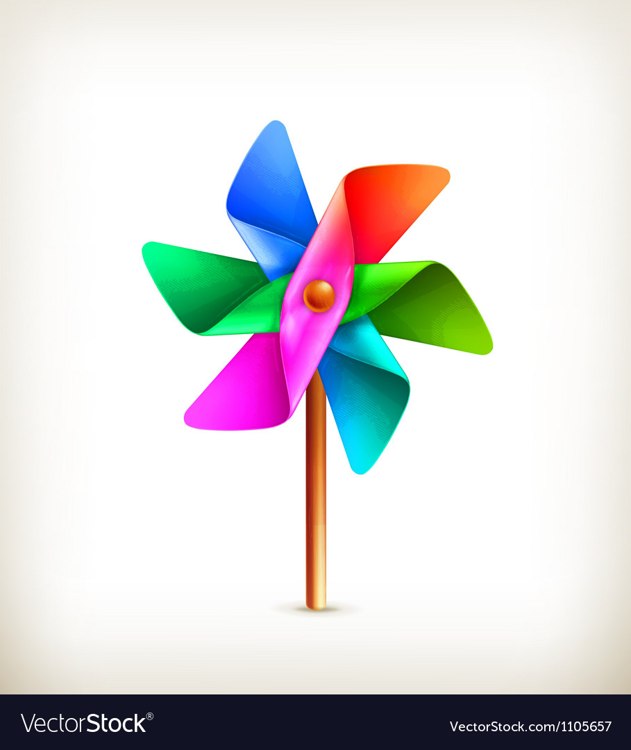 Pinwheel toy multicolor vector | Price: 1 Credit (USD $1)