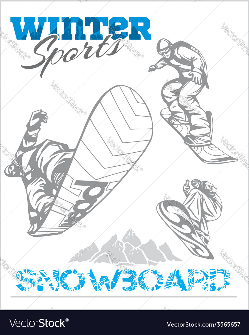 Snowboard - winter sport stock vector | Price: 1 Credit (USD $1)