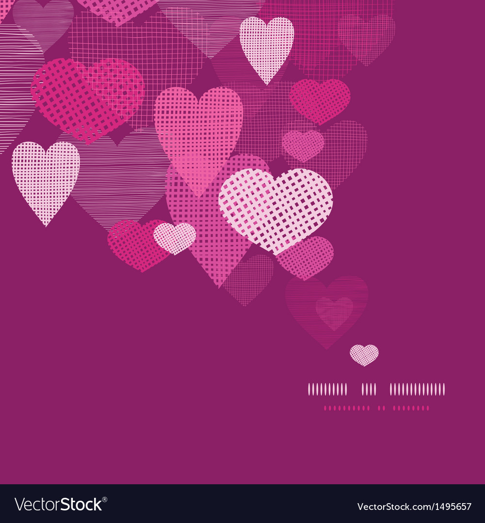 Textured fabric hearts decor pattern background vector | Price: 1 Credit (USD $1)