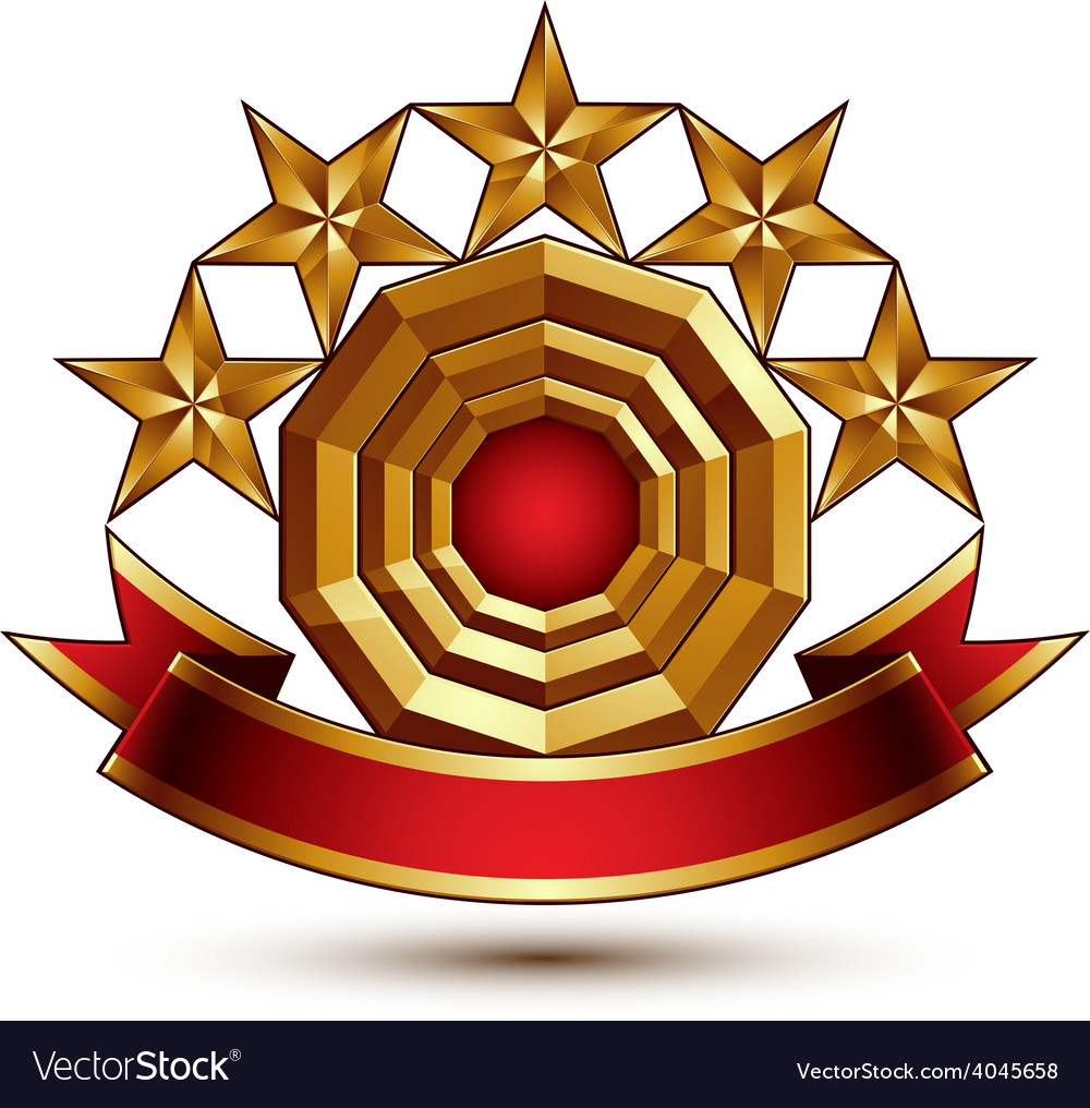 3d classic royal symbol with sophisticated five vector | Price: 1 Credit (USD $1)