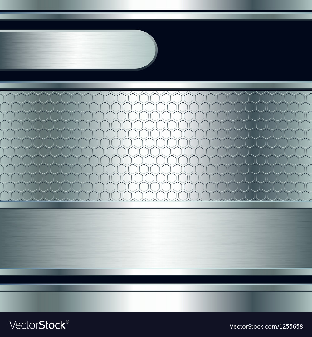 Abstract background metallic silver banners vector | Price: 1 Credit (USD $1)