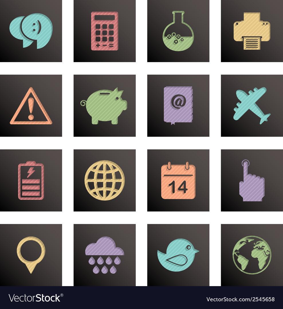 Black media icons vector   Price: 1 Credit (USD $1)