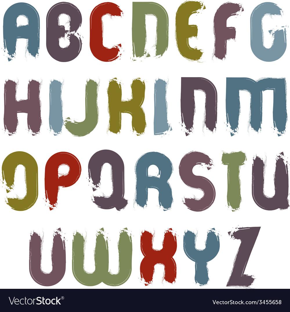 Calligraphic font handwritten watercolor capital vector | Price: 1 Credit (USD $1)