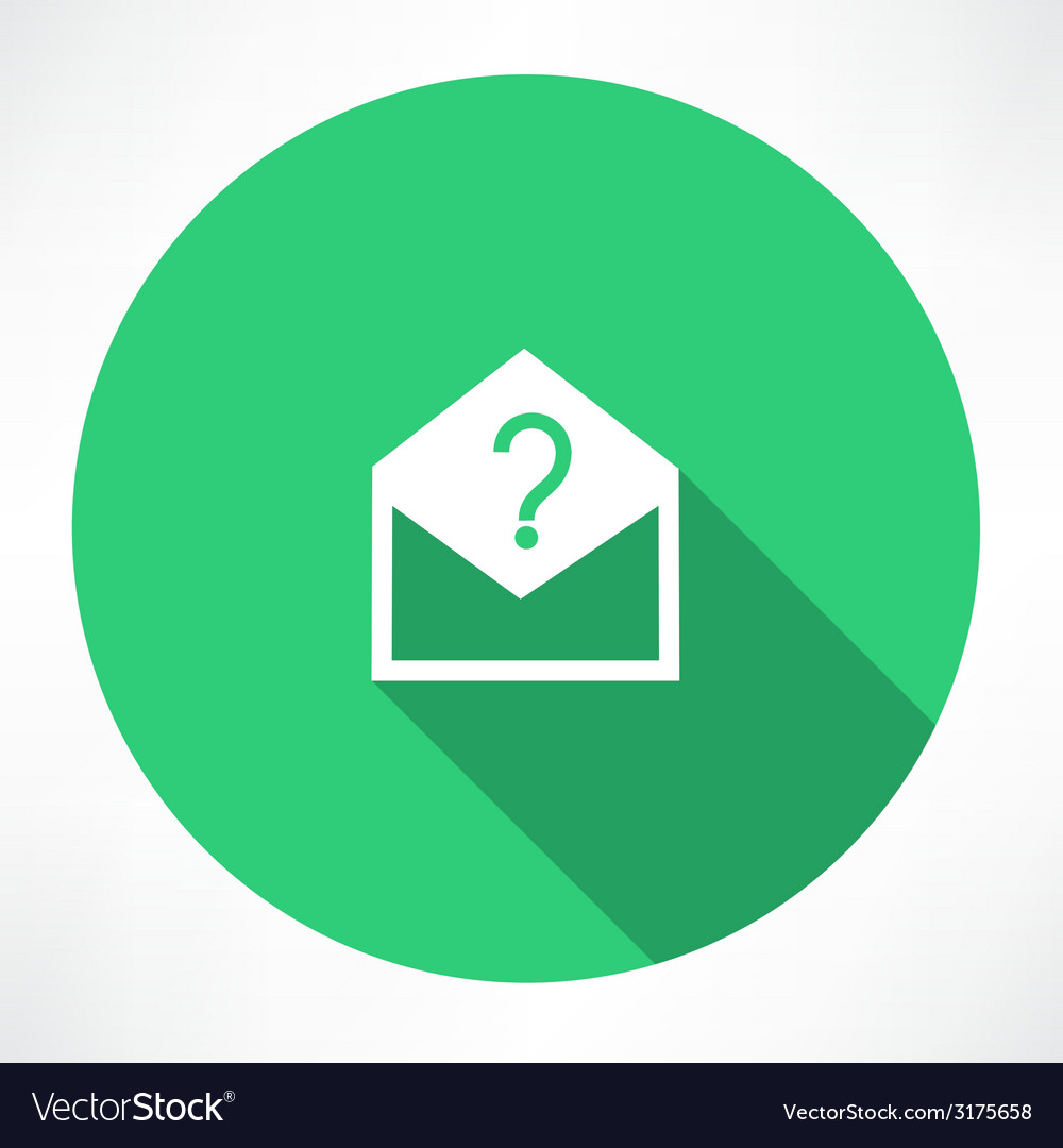 Envelope with a question mark vector | Price: 1 Credit (USD $1)