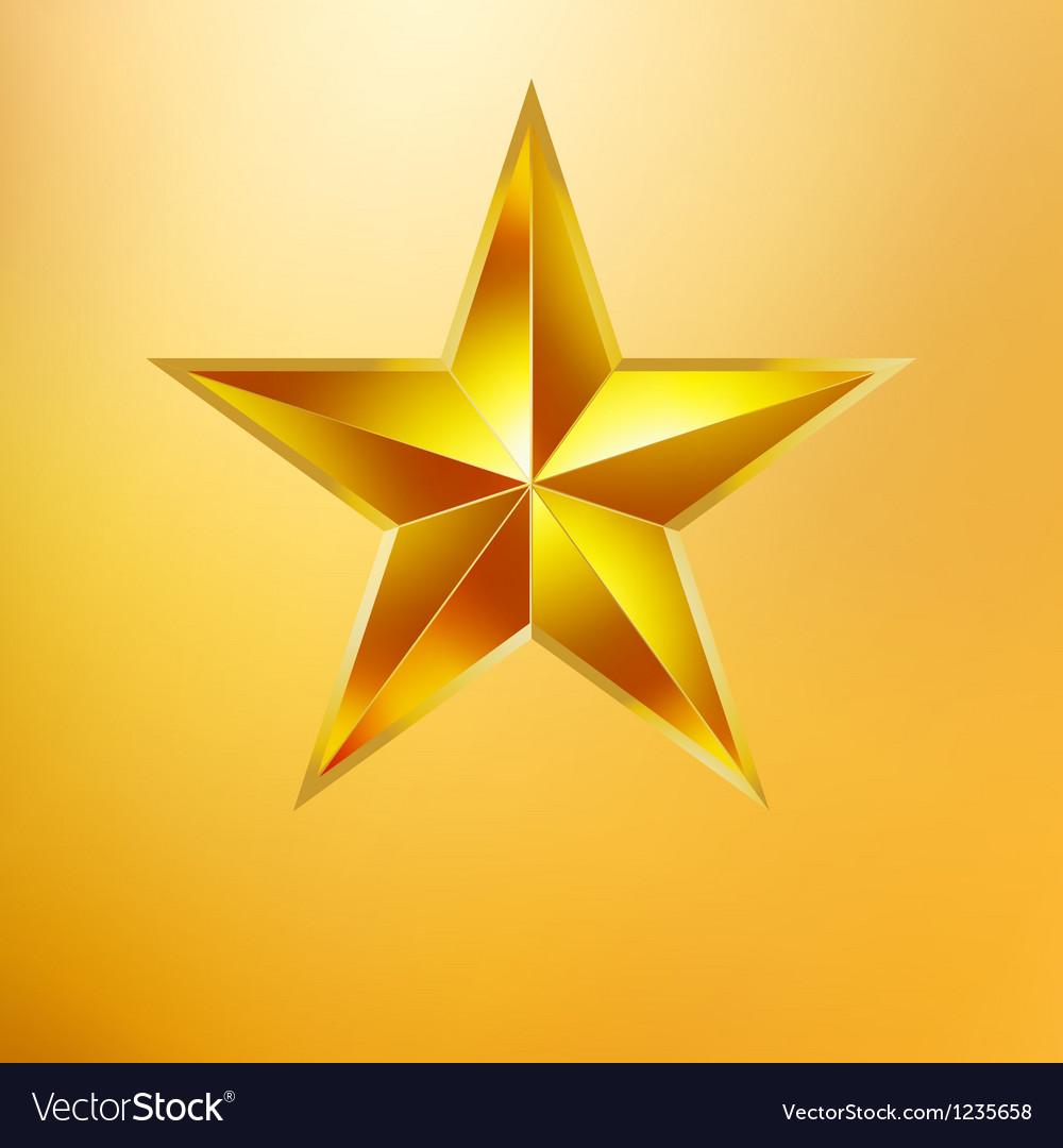 Gold star vector | Price: 1 Credit (USD $1)