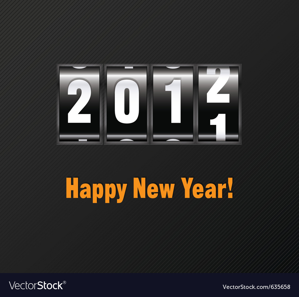 New year counter vector | Price: 1 Credit (USD $1)