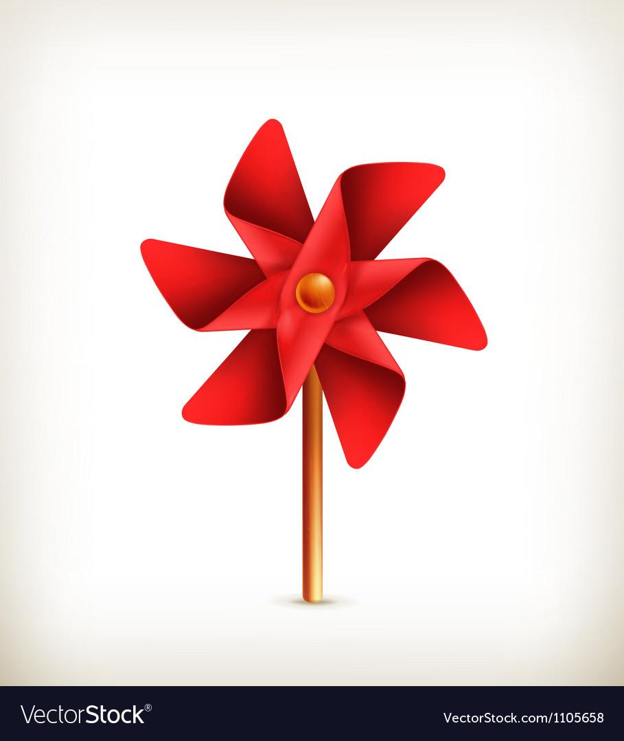 Pinwheel toy vector | Price: 1 Credit (USD $1)