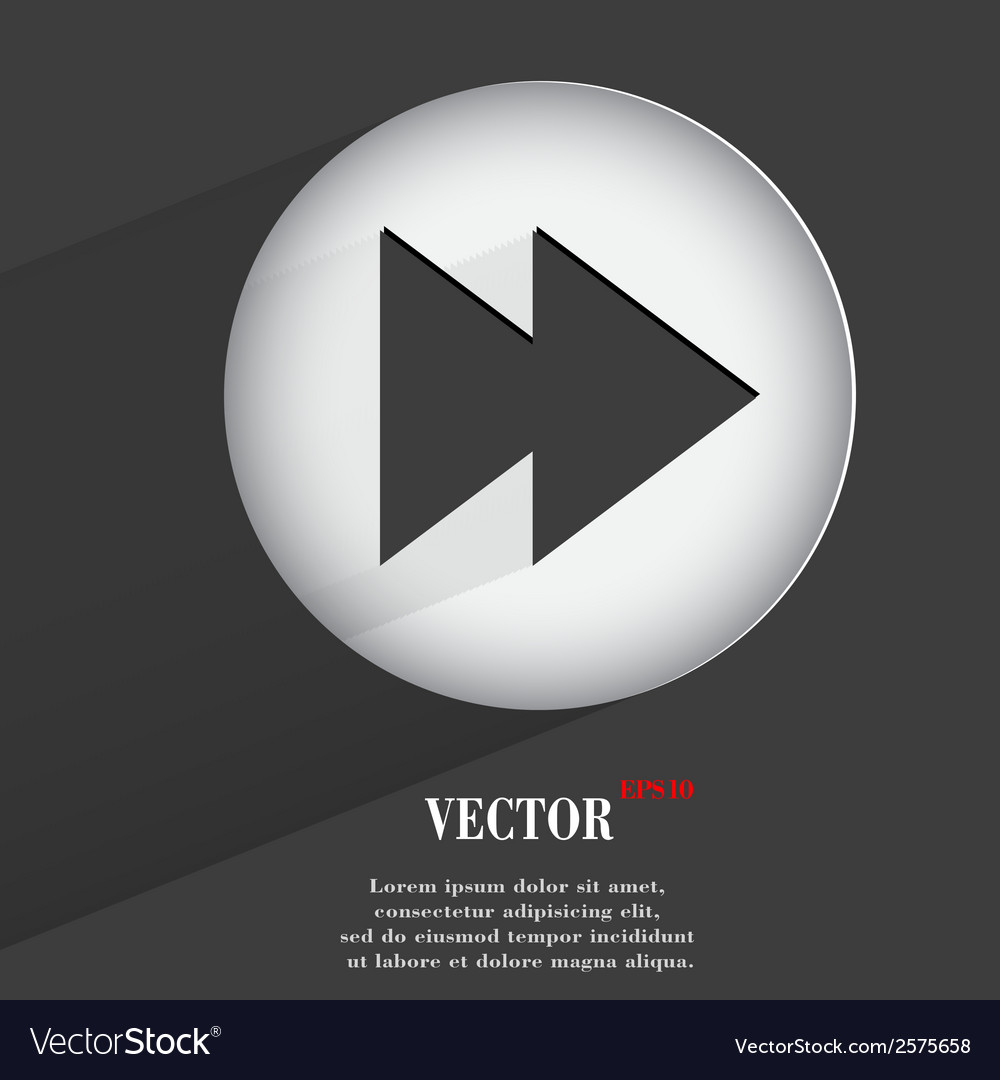 Player controls flat modern web button with long vector | Price: 1 Credit (USD $1)