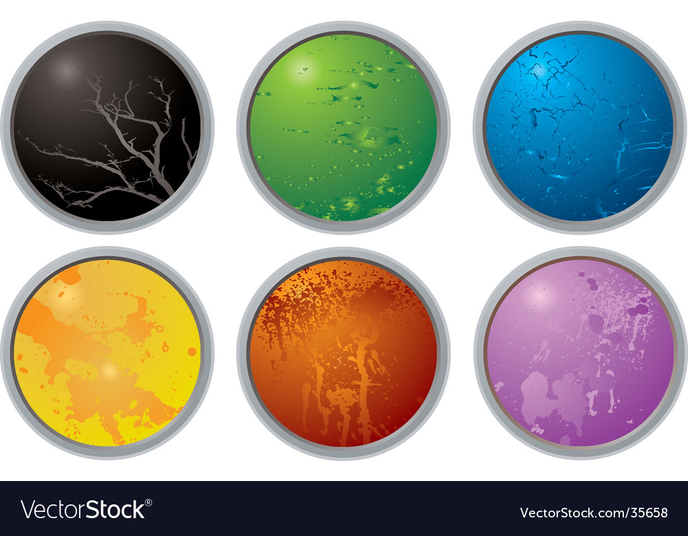 Rainbow button variation vector | Price: 1 Credit (USD $1)