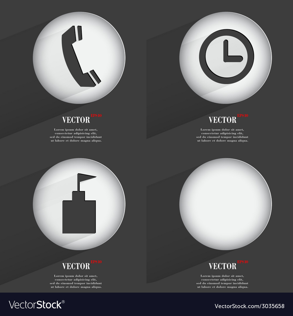 Set of one-color web buttons flat design simple vector   Price: 1 Credit (USD $1)