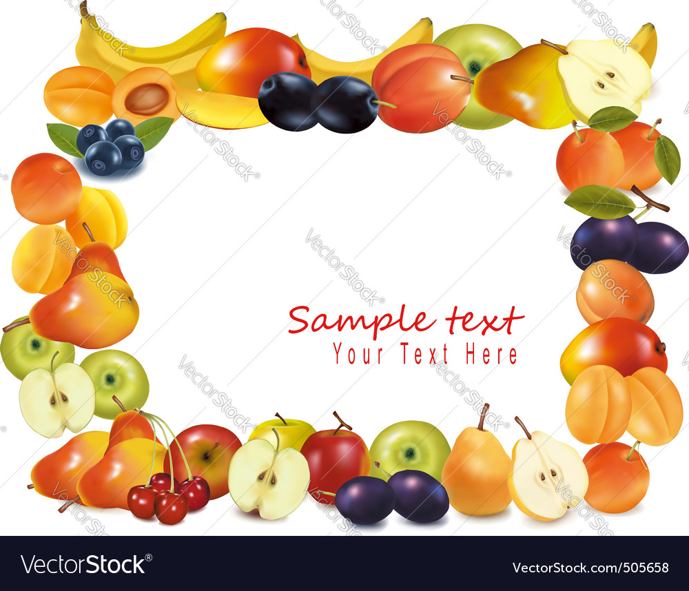 Sweet fruits background vector | Price: 3 Credit (USD $3)