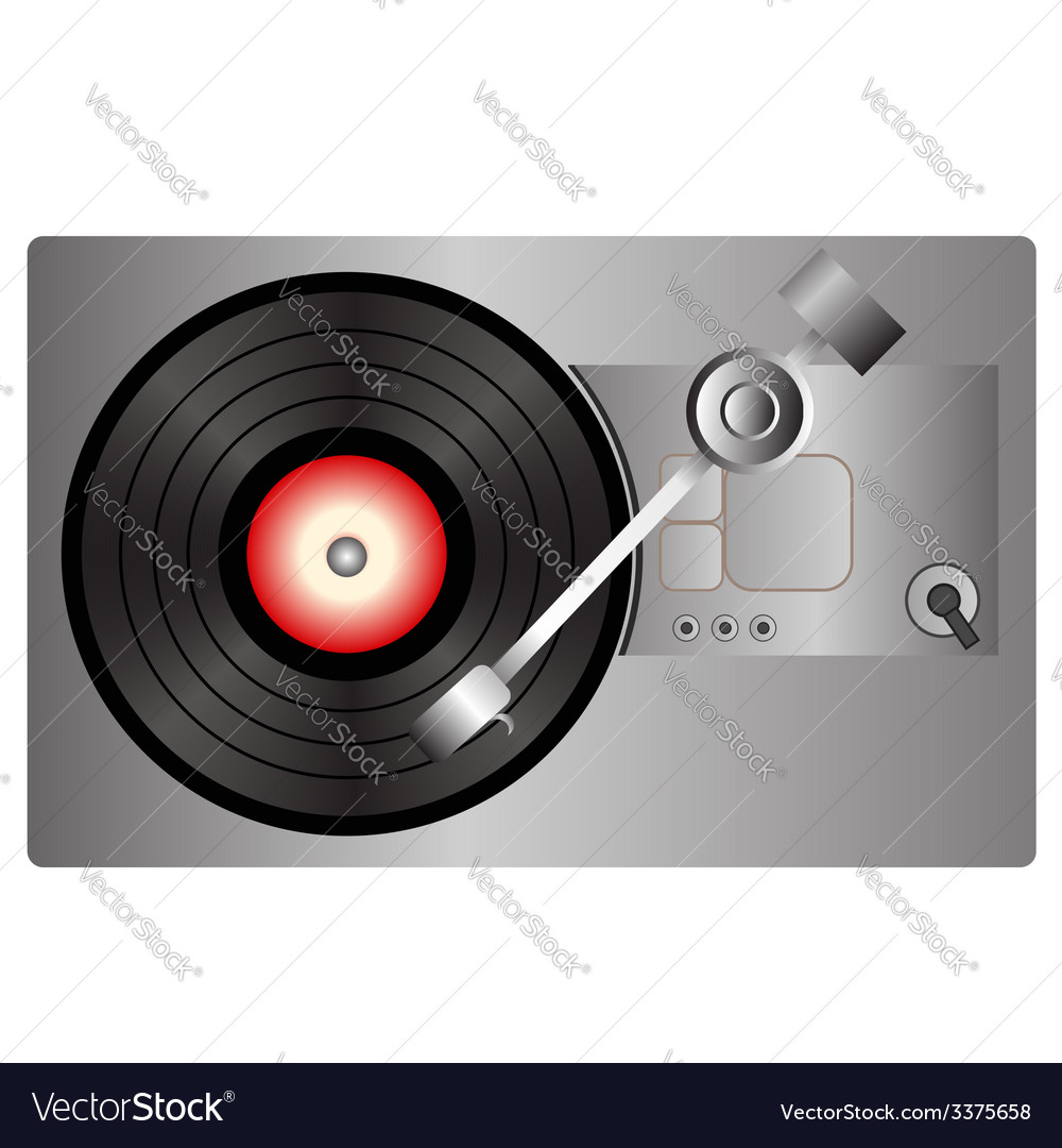 Vinyl record player vector | Price: 1 Credit (USD $1)