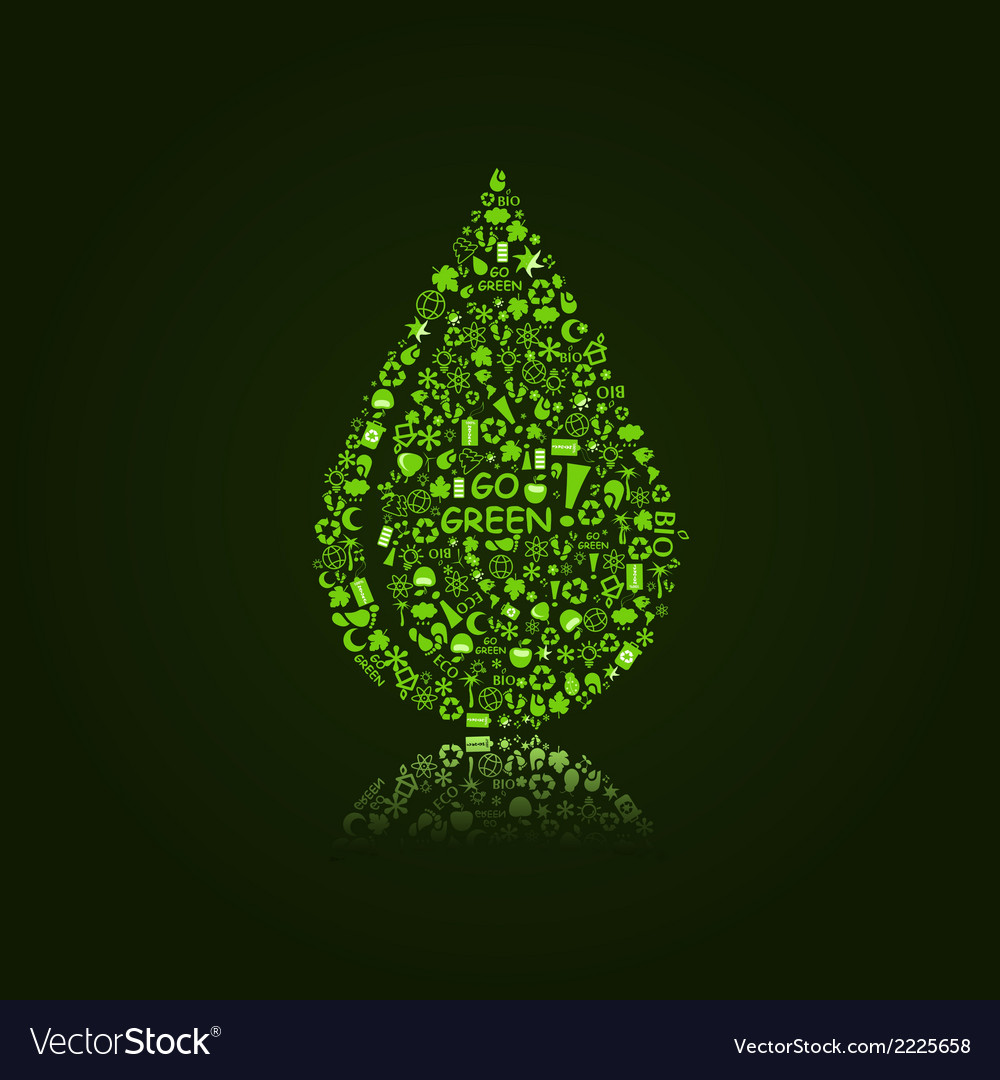 Water drop on black background vector | Price: 1 Credit (USD $1)