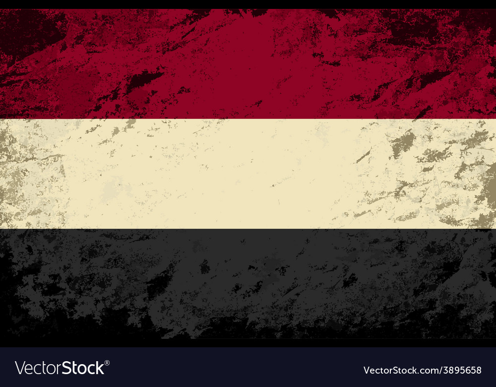 Yemeni flag grunge background vector | Price: 1 Credit (USD $1)