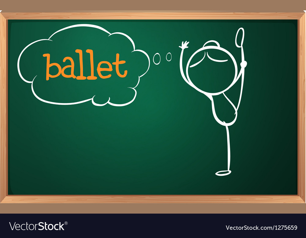 A board with a sketch of a ballet dancer vector | Price: 1 Credit (USD $1)