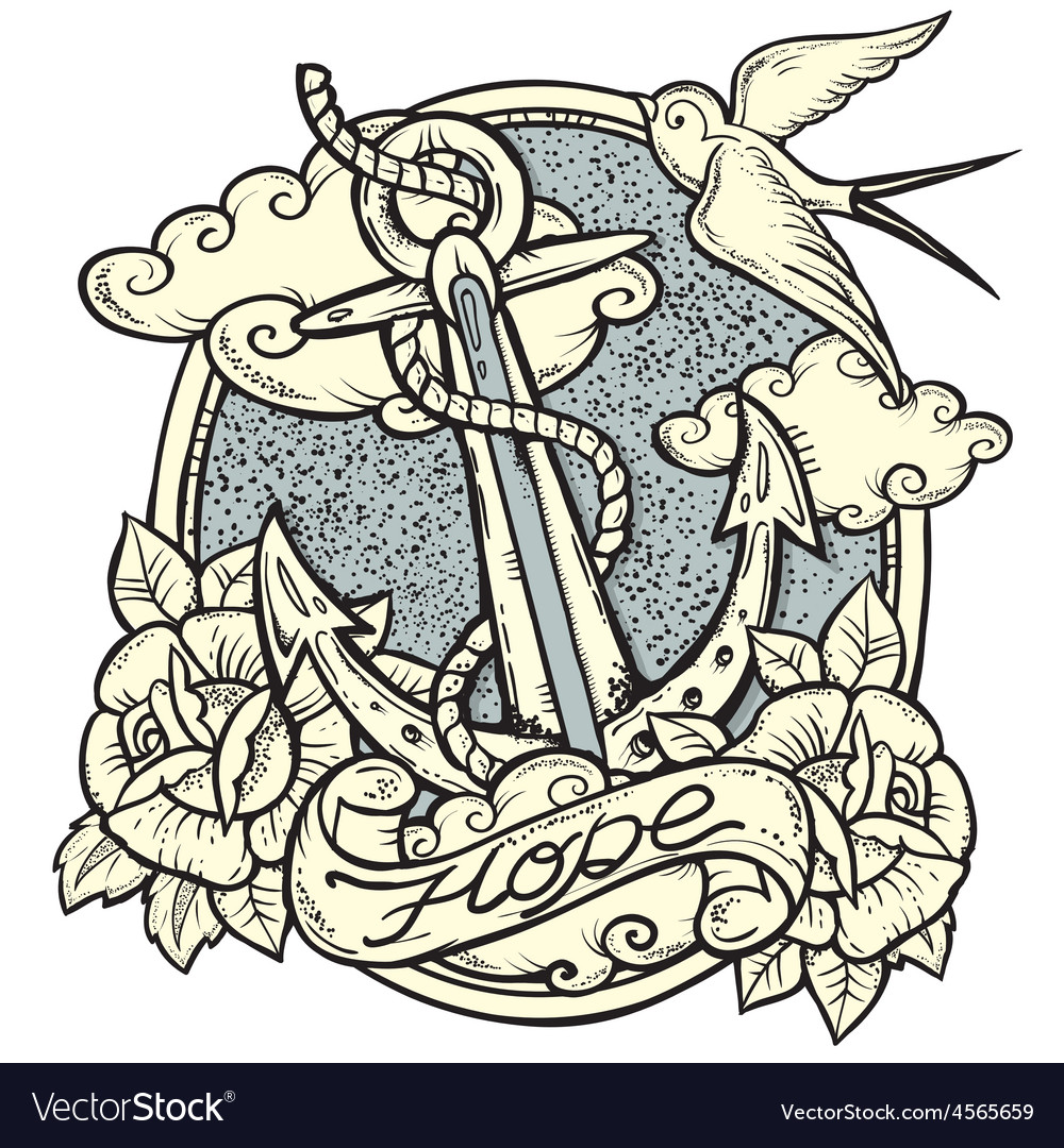 Anchor tattoo vector | Price: 3 Credit (USD $3)