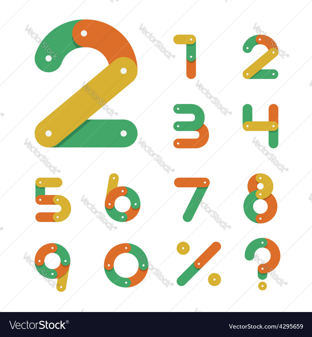 Bicycle chain number set in flat design vector   Price: 1 Credit (USD $1)