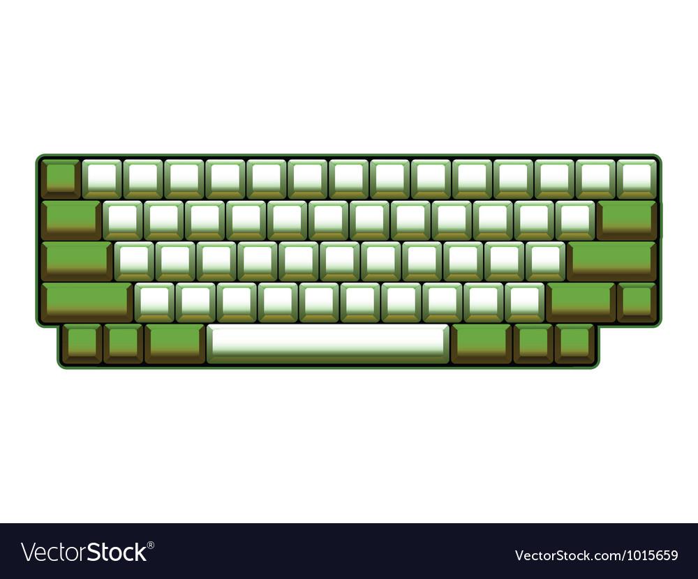 Blank computer keyboard vector | Price: 1 Credit (USD $1)