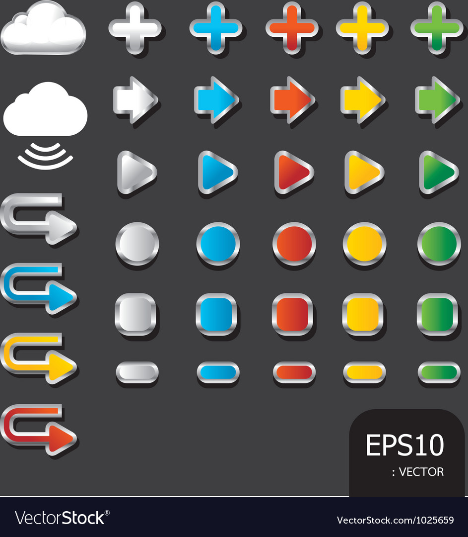 Button color icon vector | Price: 1 Credit (USD $1)