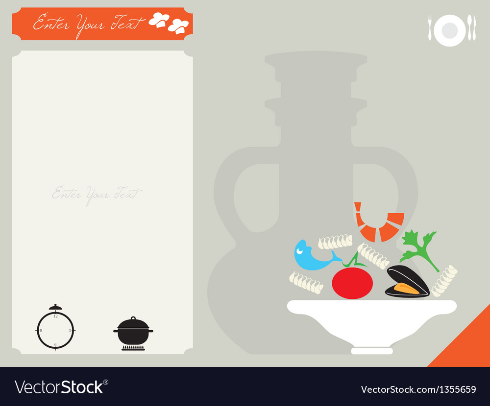 Card for the recipe vector | Price: 1 Credit (USD $1)