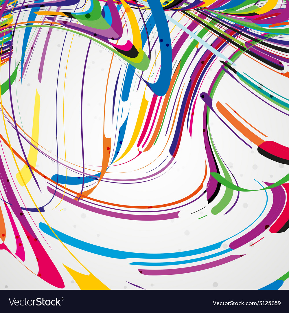 Colorful lines background vector | Price: 1 Credit (USD $1)