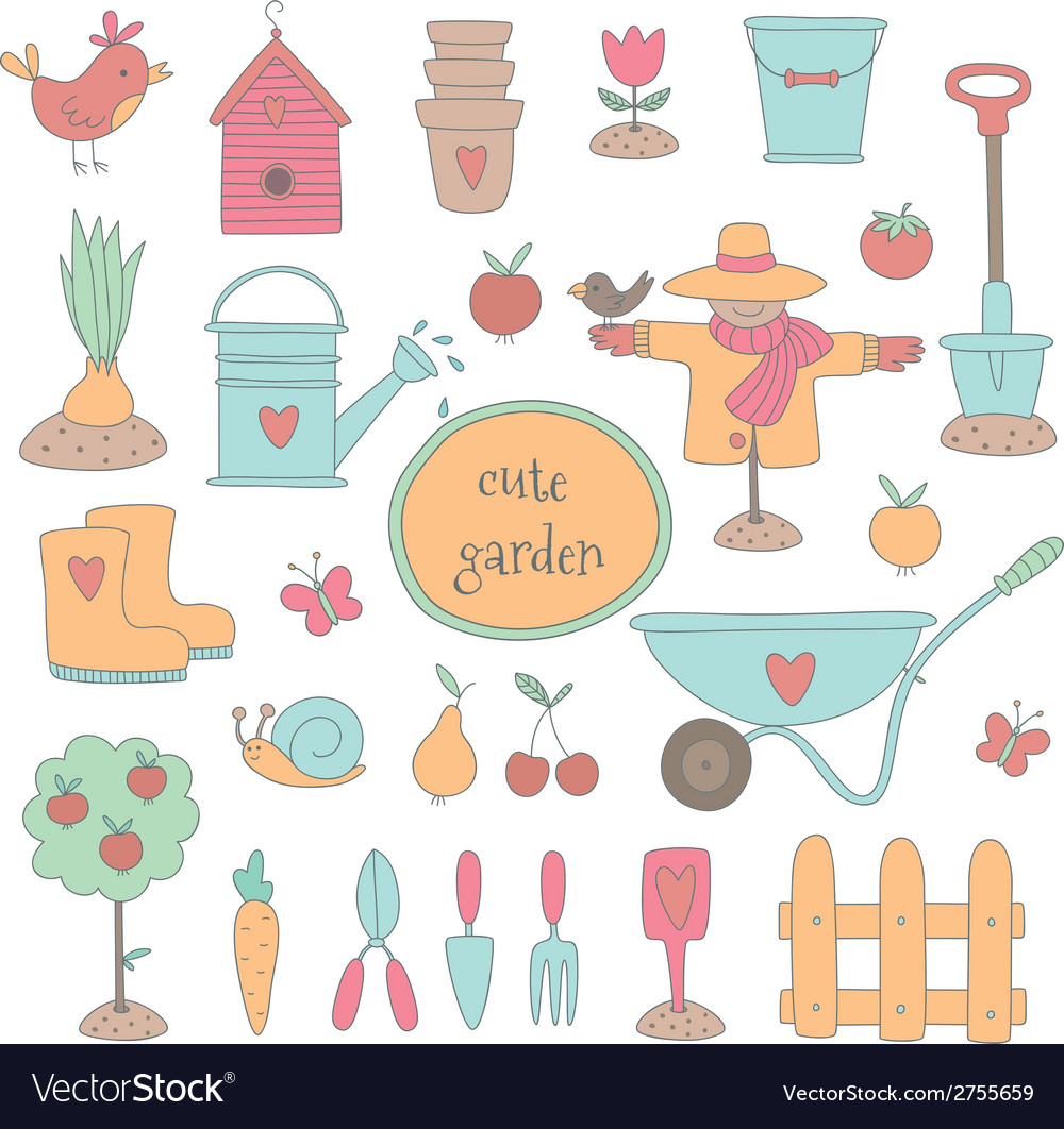 Gardening set vector | Price: 1 Credit (USD $1)