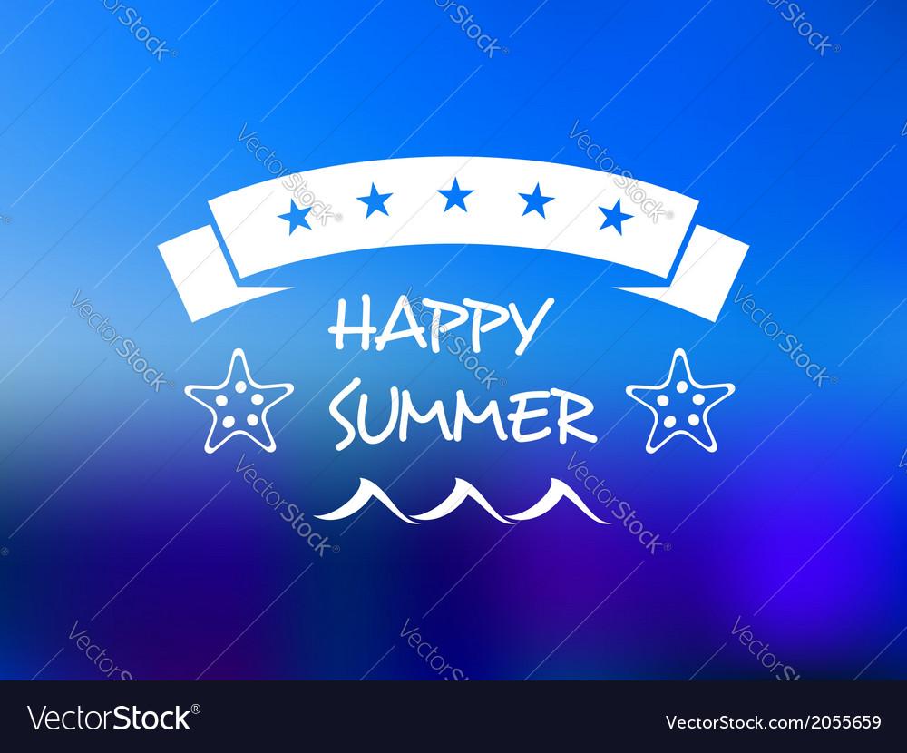 Happy summer five star banner vector | Price: 1 Credit (USD $1)