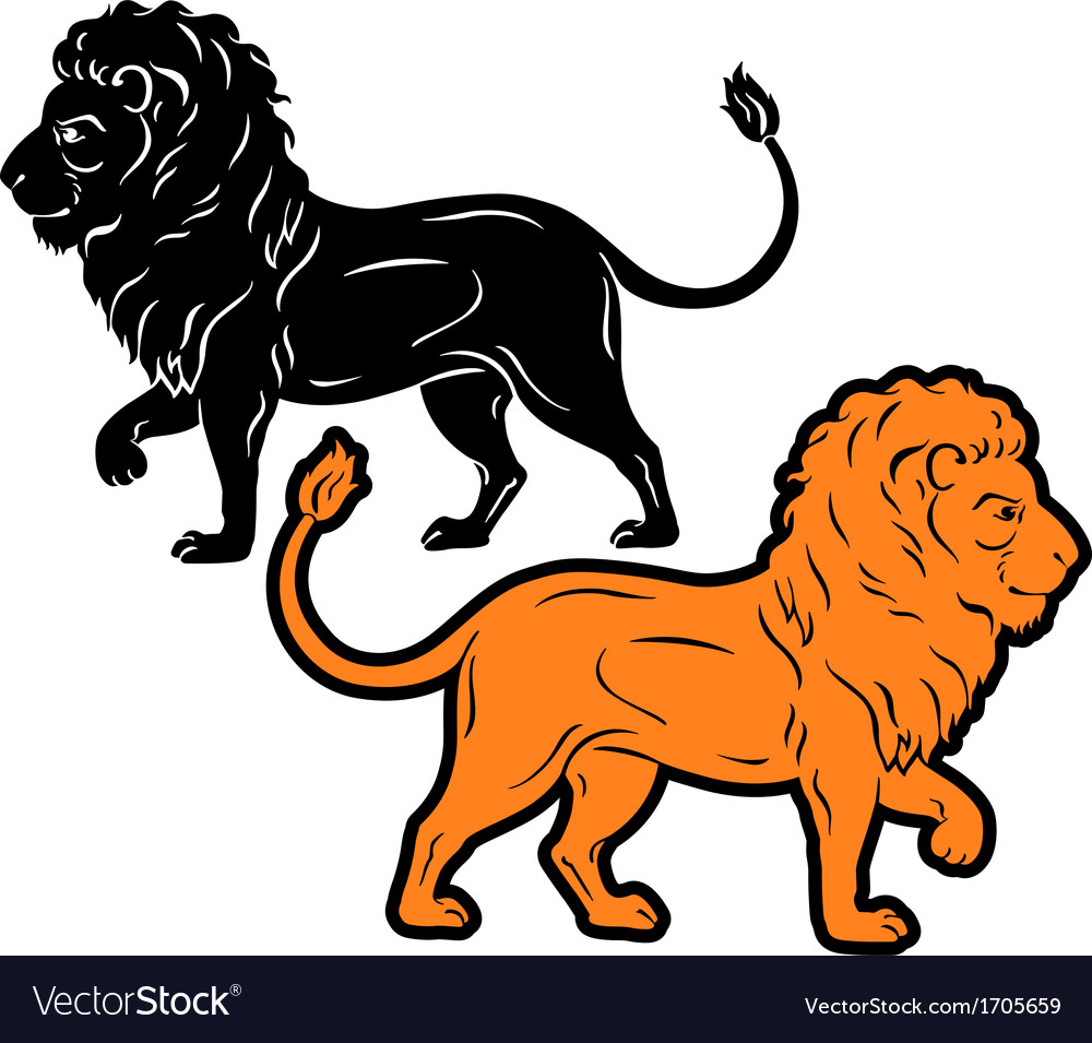 Lion silhouette vector | Price: 1 Credit (USD $1)