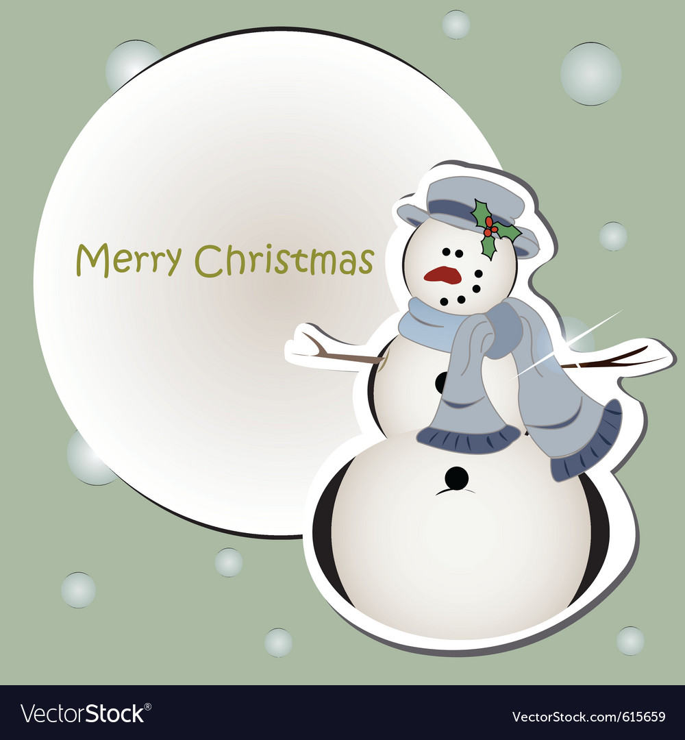 Snowman card vector | Price: 1 Credit (USD $1)