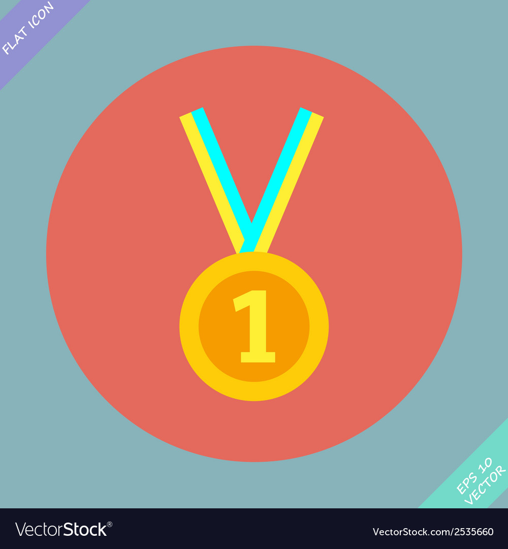 1st position gold medal icon - vector | Price: 1 Credit (USD $1)