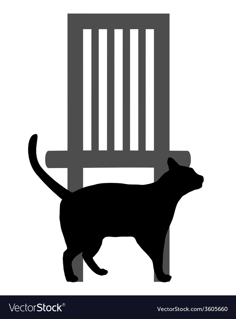 Cat on white vector | Price: 1 Credit (USD $1)