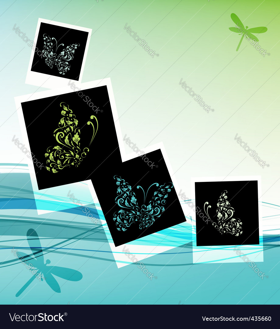 Collage design insert your photos vector | Price: 1 Credit (USD $1)