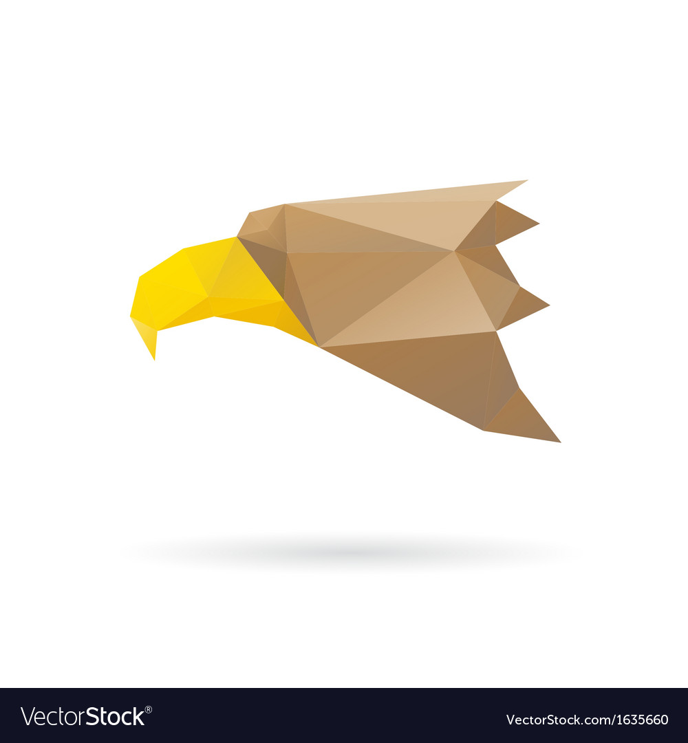 Eagle head abstract isolated vector | Price: 1 Credit (USD $1)