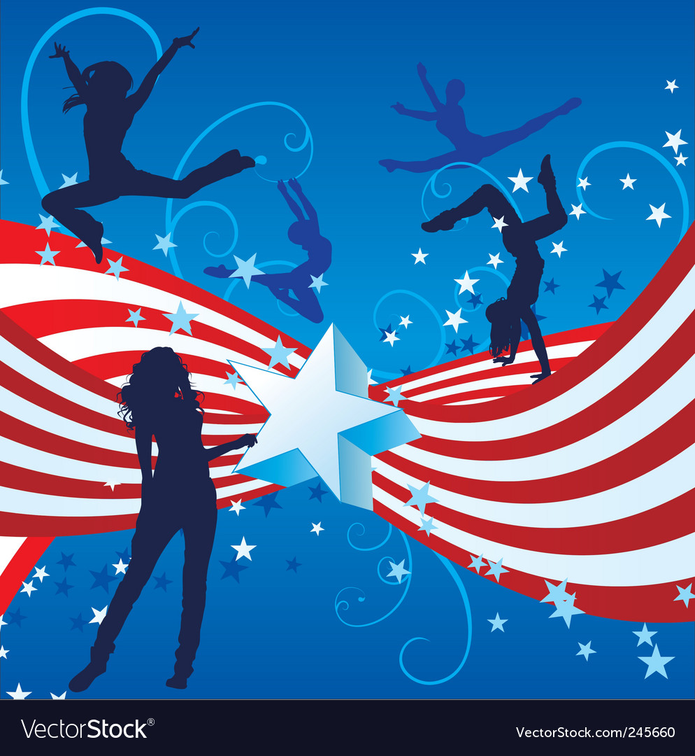 Independence day dance vector | Price: 1 Credit (USD $1)