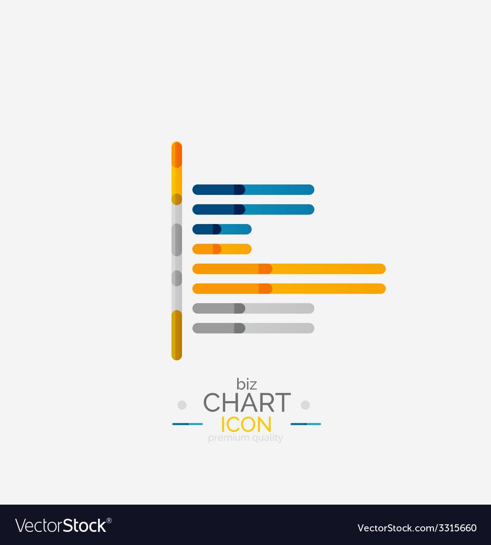 Line graph chart icon vector | Price: 1 Credit (USD $1)