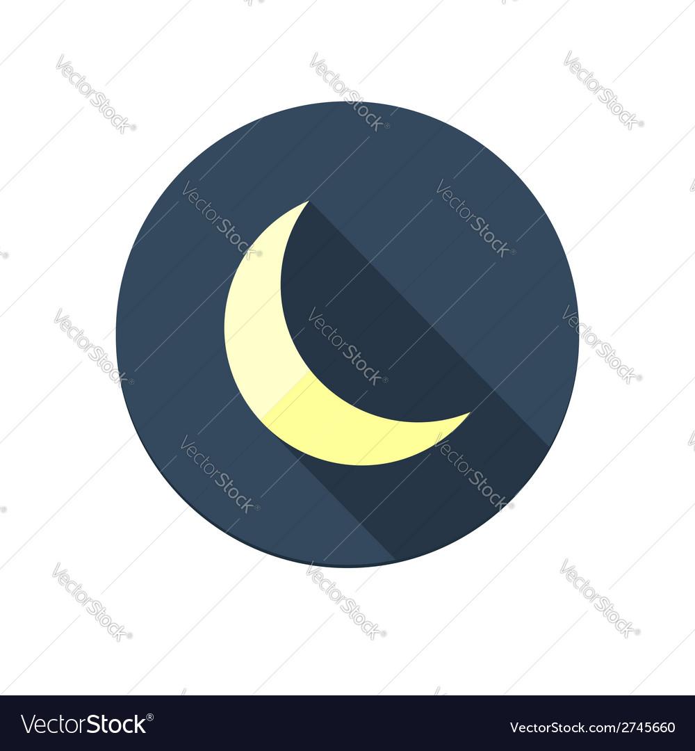 Moon icon vector   Price: 1 Credit (USD $1)