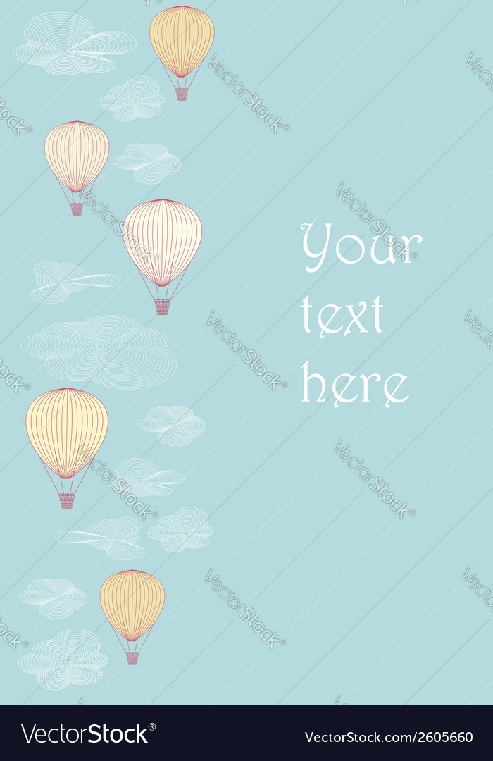 Side border made of balloons vector | Price: 1 Credit (USD $1)