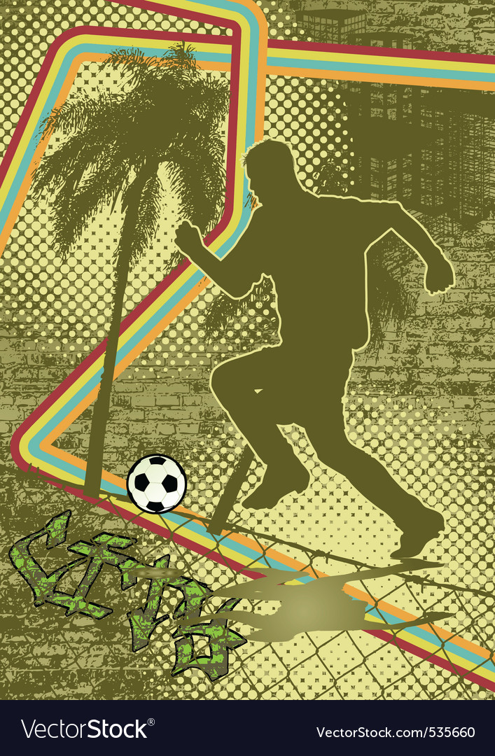 Vintage urban grunge soccer vector | Price: 1 Credit (USD $1)