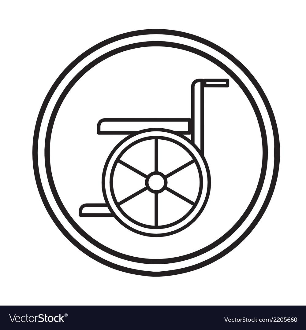 Wheelchair handicap icon symbol vector | Price: 1 Credit (USD $1)