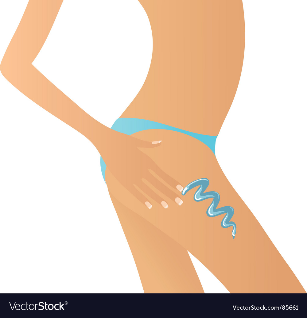Applying lotion vector | Price: 1 Credit (USD $1)