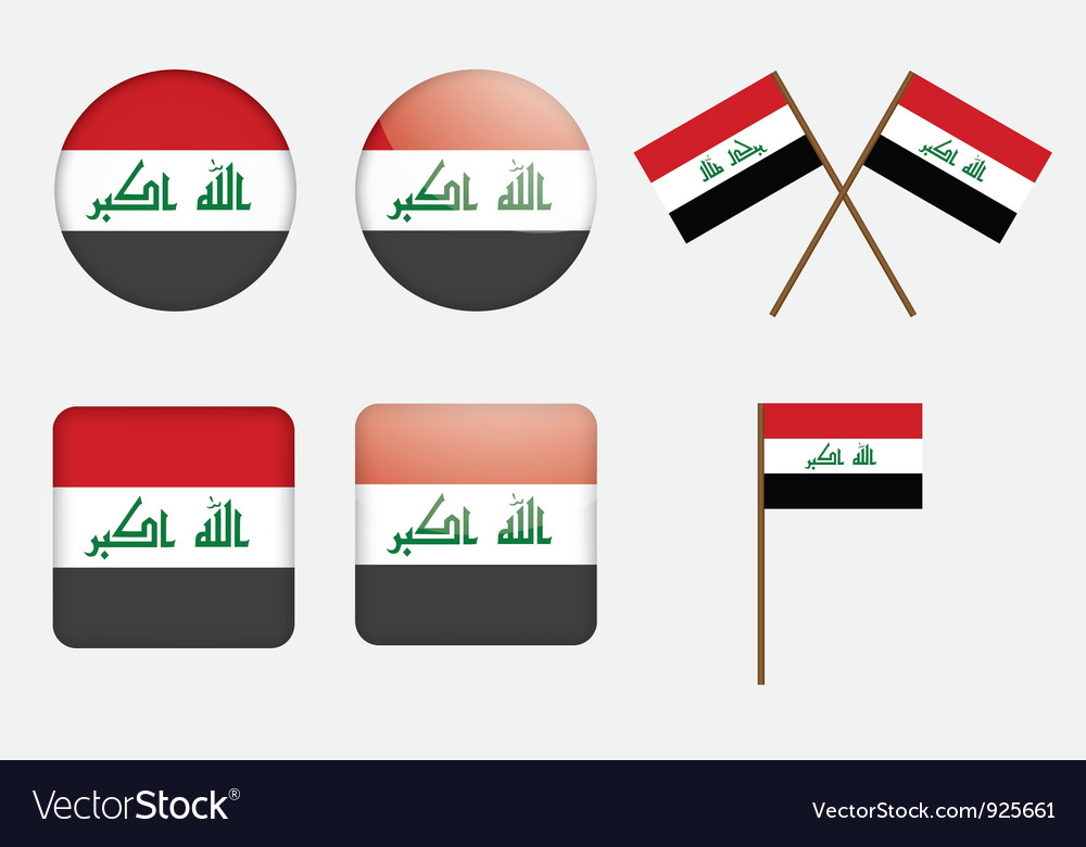 Badges with flag of iraq vector | Price: 1 Credit (USD $1)